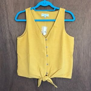 NWT Madewell Tie Front Top